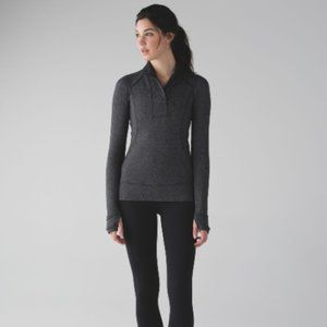 LULULEMON Think Fast Pullover Black Heathered 6